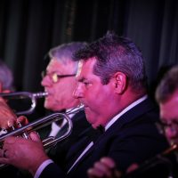 Kevin Kalbfleish and the BBT trumpet section.  Photo credit: Cameron Shaver