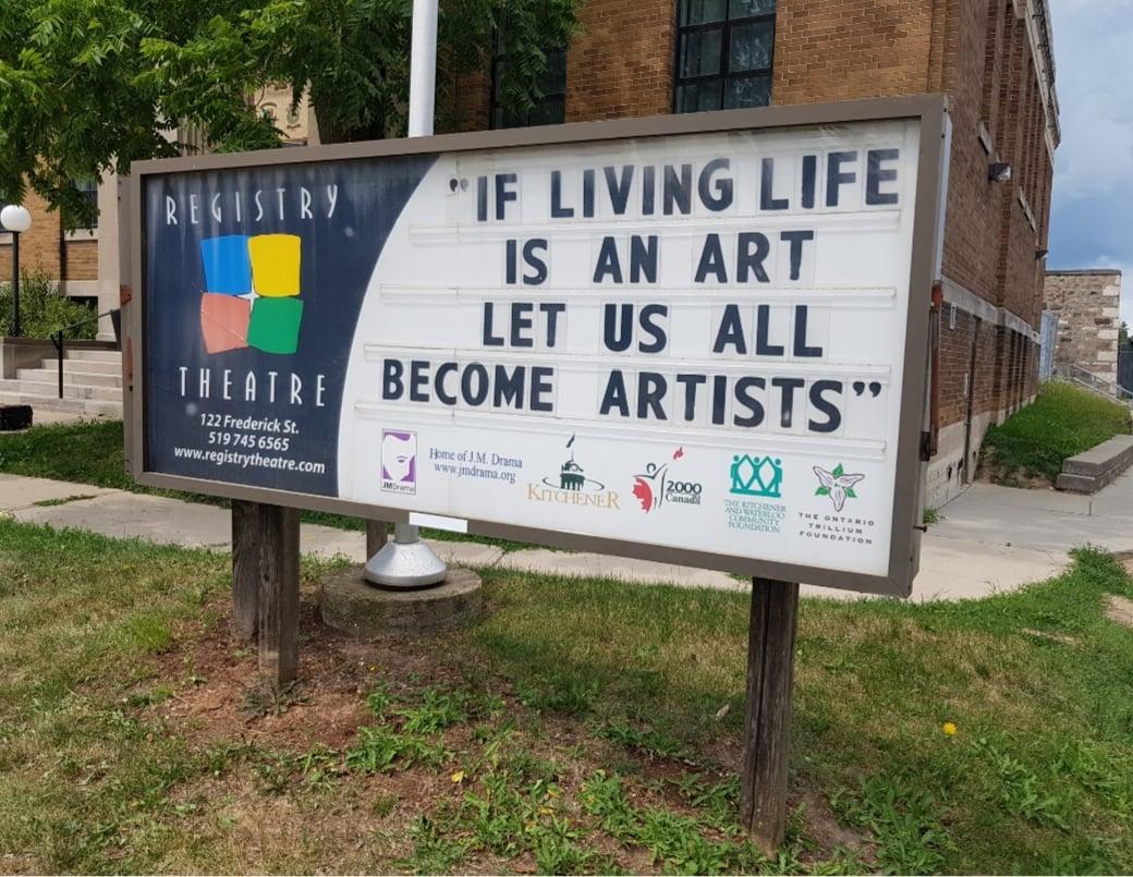 living artfully registry theatre